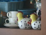 Chicken theme creamer & sugar
