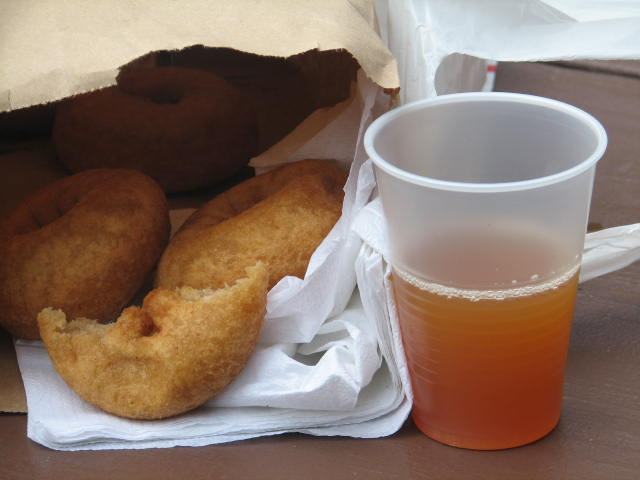 Michigan cider and doughnuts