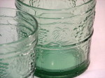 French tumblers Arcoroc green