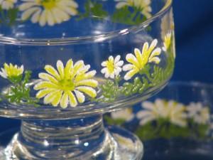Vintage glass sherbet dish
