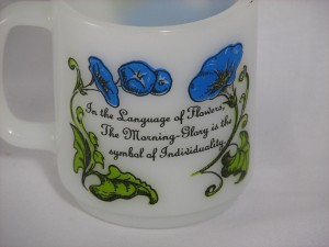 Language of Flowers Glasbake mug