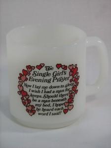 Glasbake mug 1979 Valentine