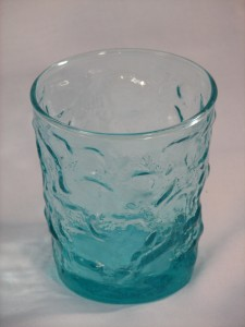 Milano in aqua Vintage glass Anchor Hocking