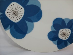 Indigo Moon vintage china plate