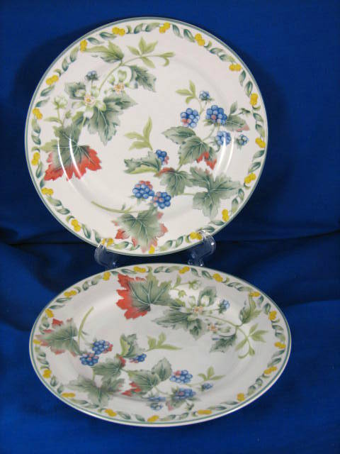 vintage china plates fruit pattern