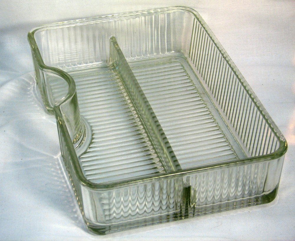 old fashioned refrigerator glass insert