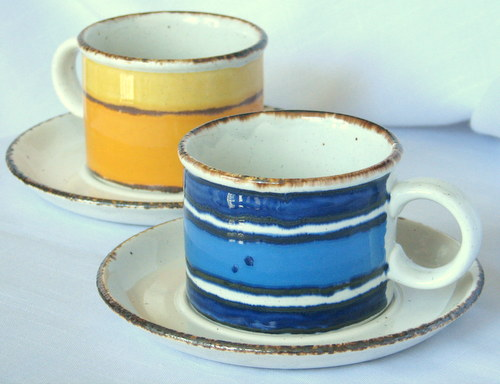 & Rustic Dinnerware: 1970s Classic Stoneware