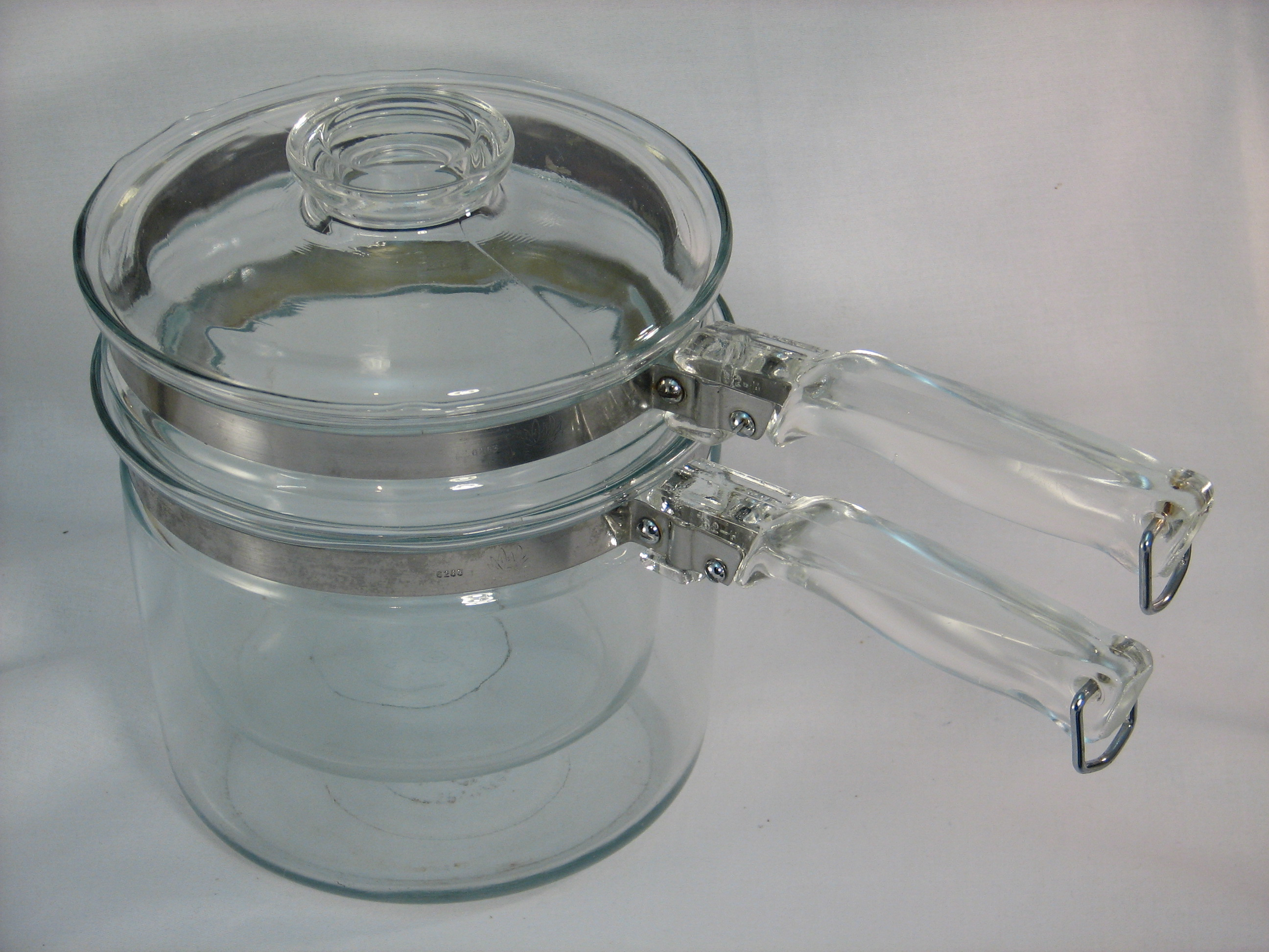 Vintage Pyrex glass double boiler