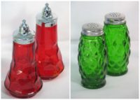 Mosser glass salt pepper shakers