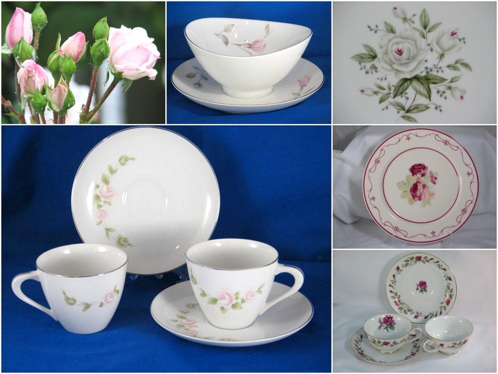 vintage china patterns roses