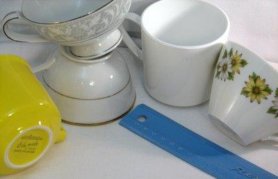 vintage china for snack sets