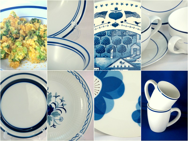 Blue and white dinnerware & Diary of a Dishie