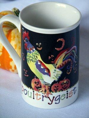 Rooster mug Halloween Poultrygeist