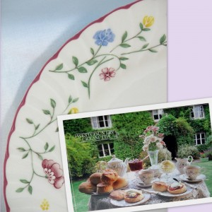 China dinner plate detail Summer Chintz tea party table setting
