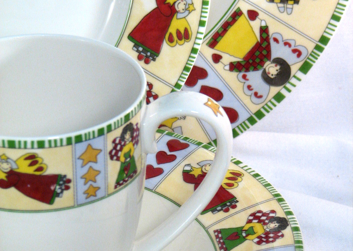 Mikasa Angelica dinnerware Christmas angels