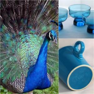 peacock blue dinnerware glassware