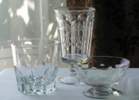 Sample shapes clear vintage glassware