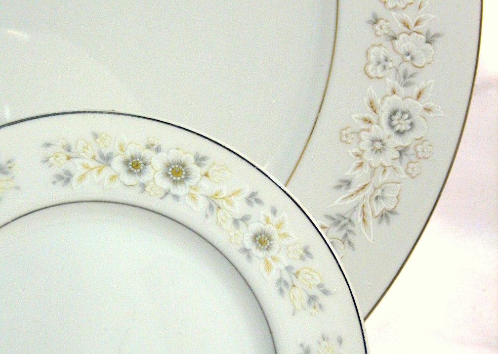 Vintage china pale patterns
