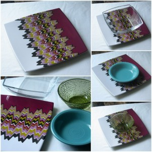 Missoni dinnerware table setting