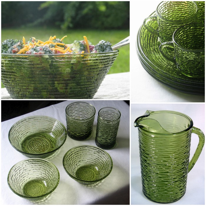 Remarkable Vintage Green Glass Dishes 700 x 700 · 151 kB · jpeg