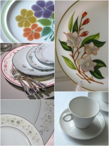 vintage dishes for wedding inspiration