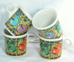 Fiesta china mugs Dancing jugs