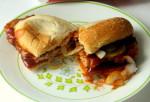 McRib sandwich vintage Corelle plate Meadow