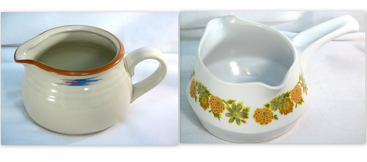 Sauce or gravy boats in casual style