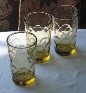 Hazel Atlas Eldorado Gold glassware