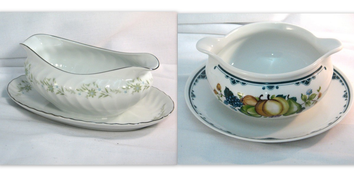 Traditional gravy or sauce boats