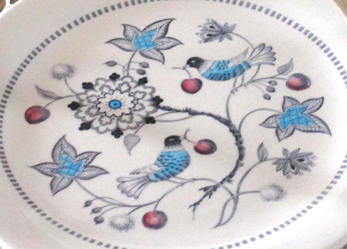 Vintage Johnson Brothers dinnerware Cherry Thieves