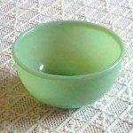 Jadeite green bowl vintage Fire-King