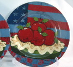 Salad dessert plate American as Apple Pie