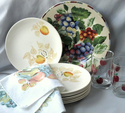 & Enjoy Fruits of Fall Dinnerware Patterns