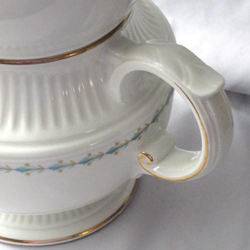 Vintage china handle detail Mount Vernon & A Classy Vintage Coffee Pot