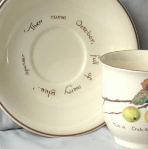 Noritake china Edwardian Lady saucer and detail