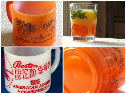 Federal glass vintage tumblers mugs