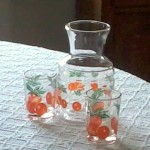 Federal orange juice glasses