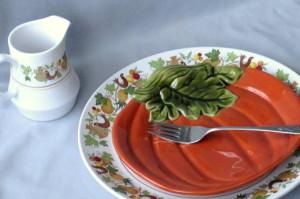 Vintage Noritake Homecoming BHG pumpkin plate