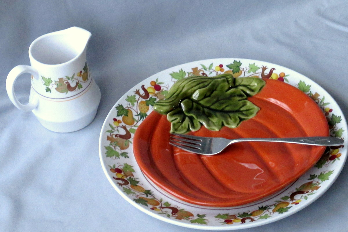 Vintage and new dinnerware mix and match