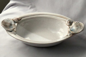 oval ceramic dish handcrafted