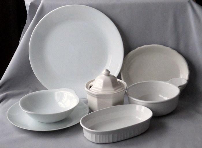 white dinnerware examples