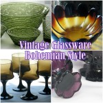 Vintage glass for bohemian style home decor