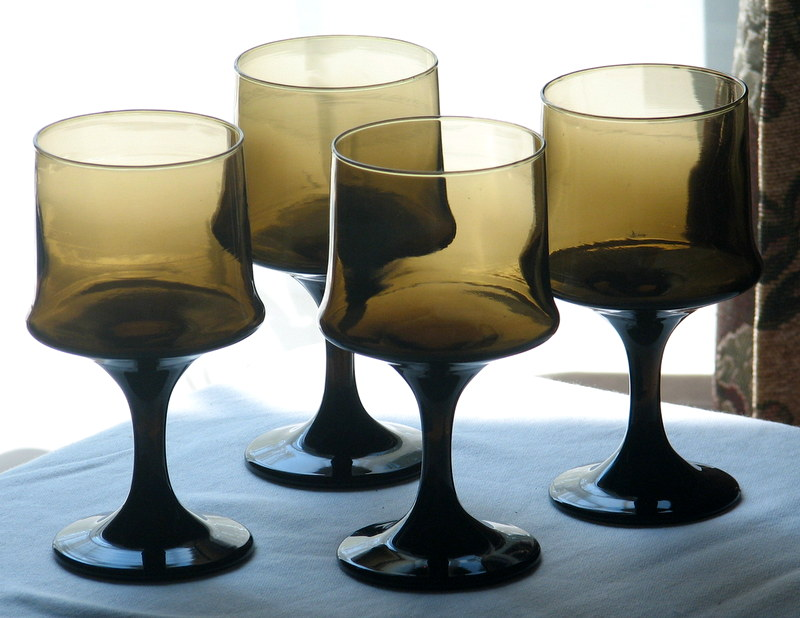 Vintage glass Libbey retro
