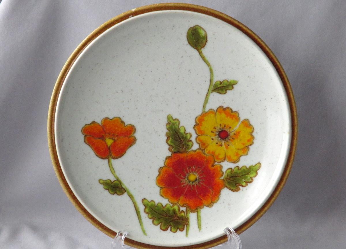 California Poppy vintage Mikasa plate