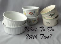 Pairs of vintage dinnerware pieces