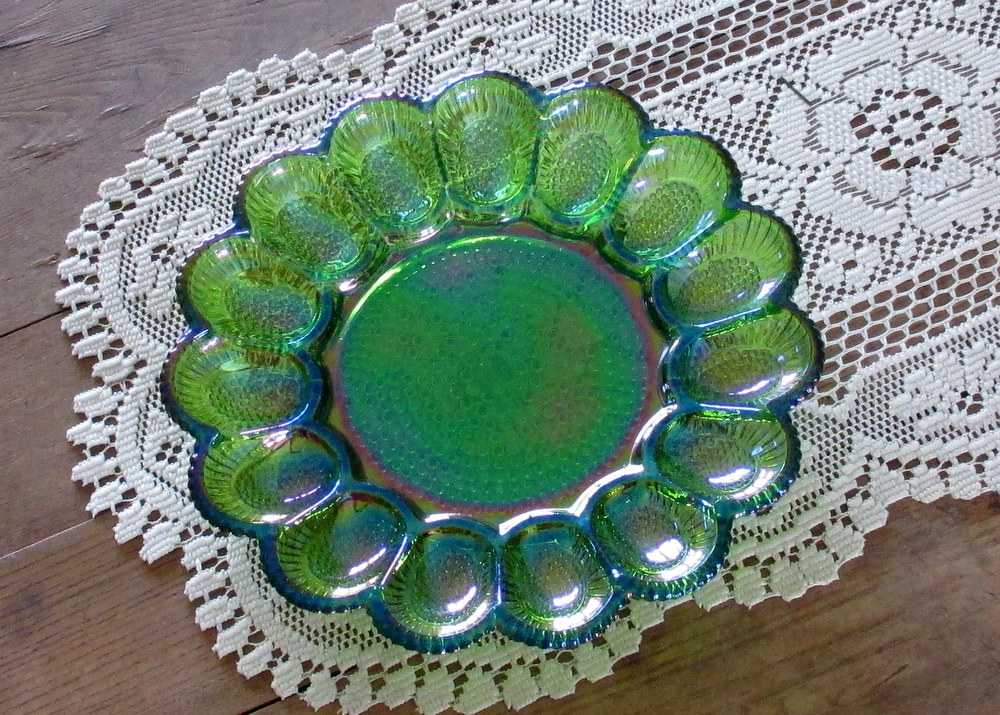 vintage Indiana Glass green
