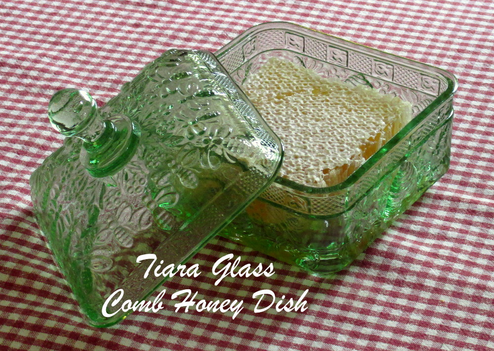 Tiara Glass Honey Dish