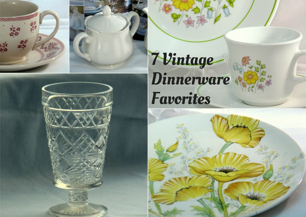 Vintage dinnerware favorite patterns