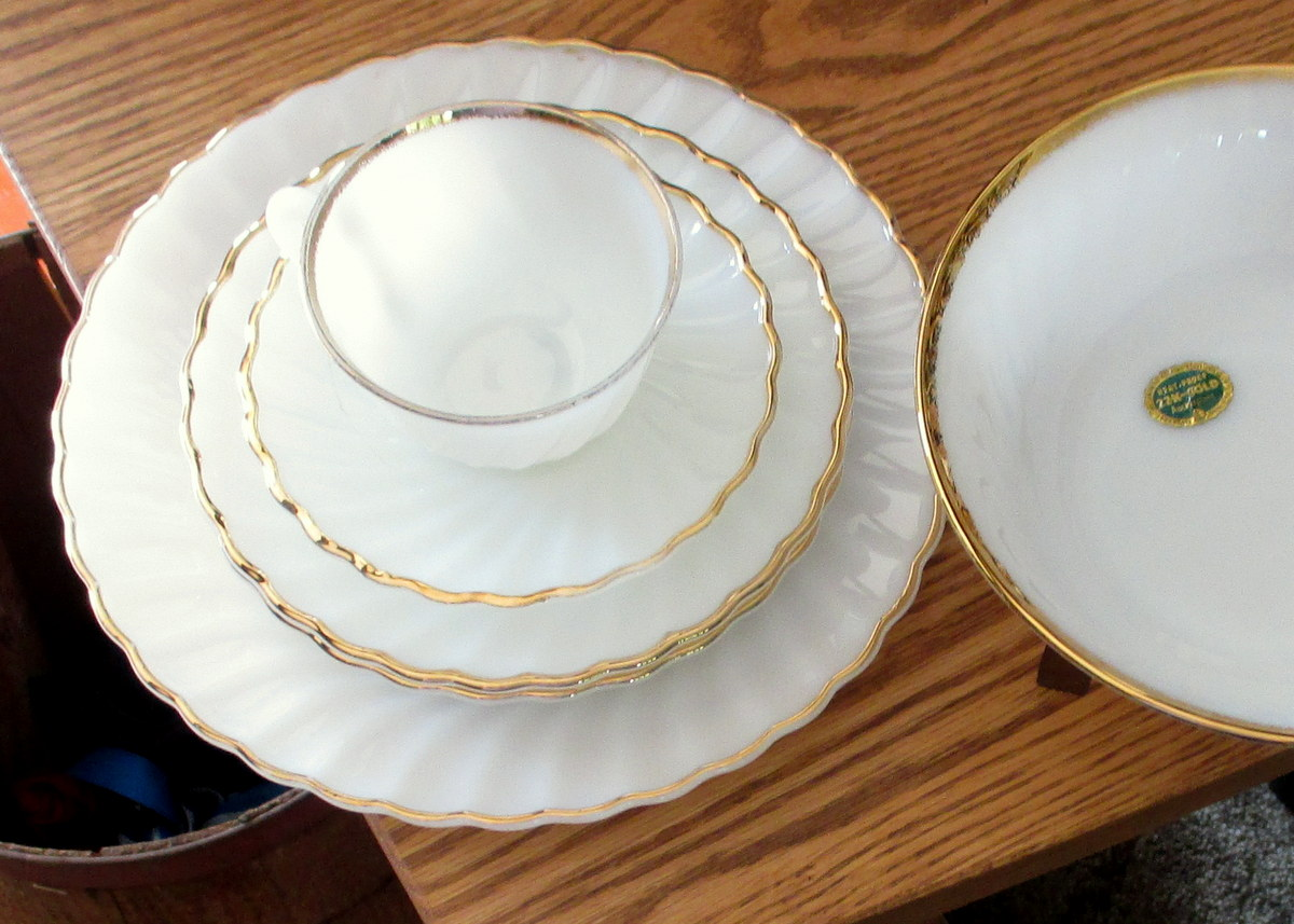My latest collection of Vintage glass dinnerware